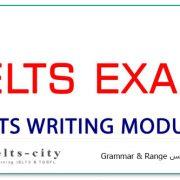 رایتینگ آیلتس Grammar & Range